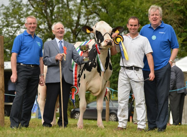 The Booth Family, Stewarstown lifted Champion of champions of Clogher Show with Holstein cow Clandeboye Shottle Willow.
